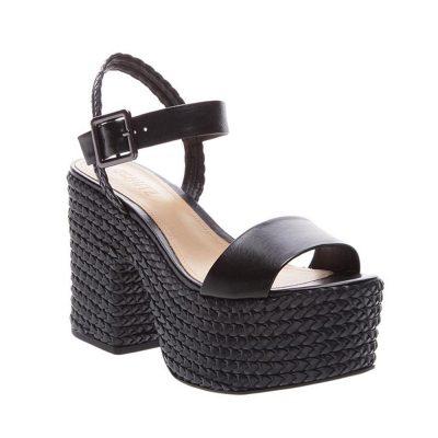 Sandalia negra de plataforma