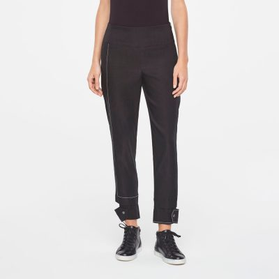 Pantalones de lino con detalles SARAH PACINI