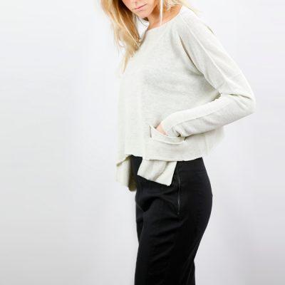 Jersey de bolsillos de lino SARAH PACINI