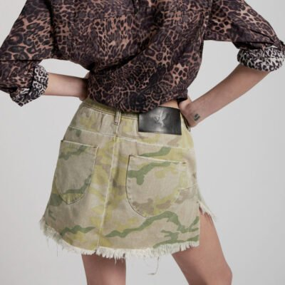Vanguard Safari Camo Skirt ONE TEASPOON