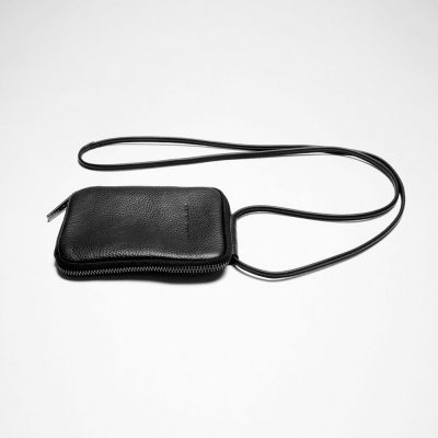 Leather wallet-bag unisex
