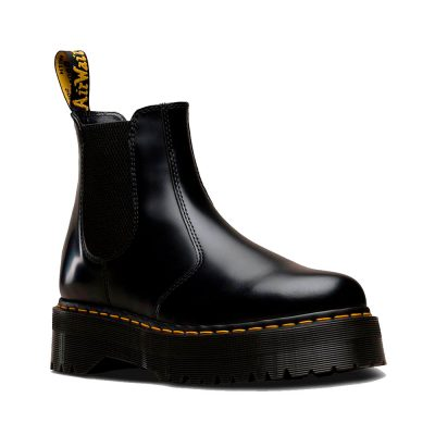 2976 QUAD Black Polished Smooth Boot DR. MARTENS