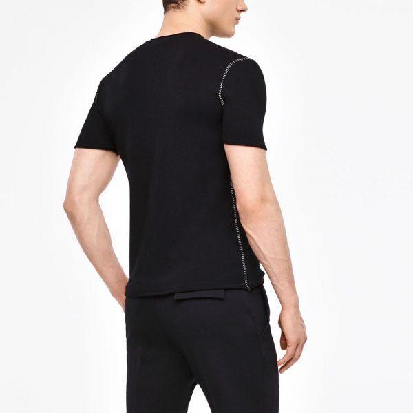 Camiseta de jersey de manga corta con detalles SARAH PACINI
