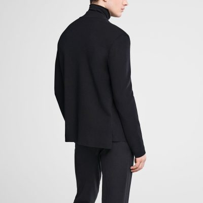Cardigan with covered zipper and mock neck SARAH PACINI
