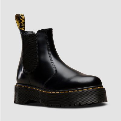Bota 2976 QUAD Color negro polished smooth DR. MARTENS