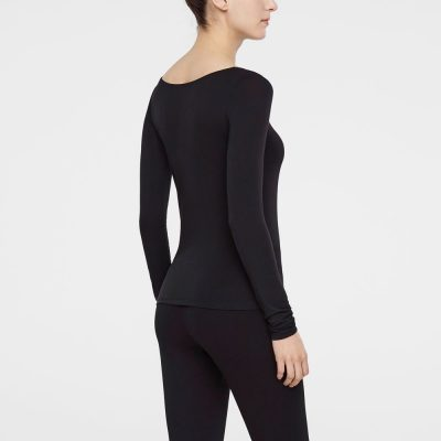 T-Shirt Zoe in black SARAH PACINI