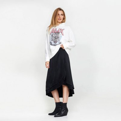 Falda midi satinada ALIX THE LABEL