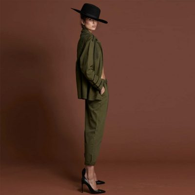 Pantalones Smith en verde militar ONE TEASPOON