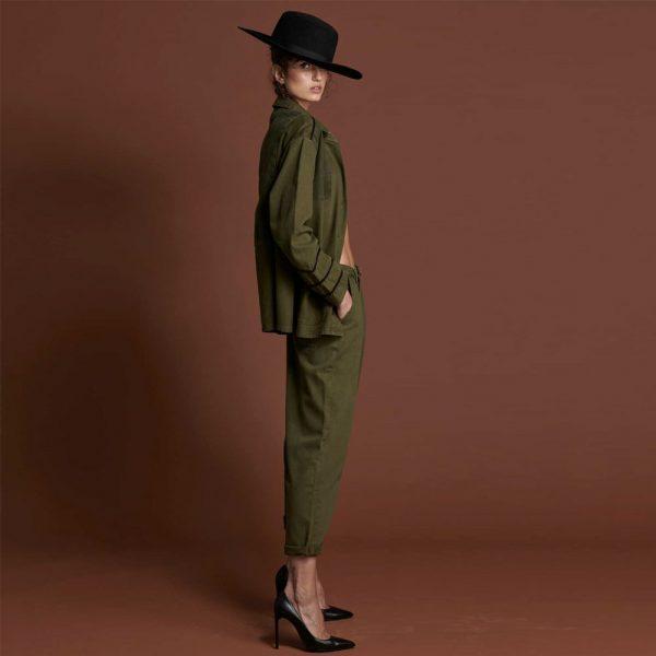 Pantalones Smith en verde militar ONE TEASPOON