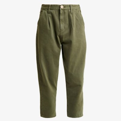 Olive military Smiths high waist trousers ONE TEASPOON