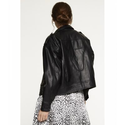 Leather jacket with pockets ALIX THE LABEL