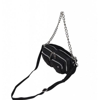 Stine Chain washed black bag NÚNOO