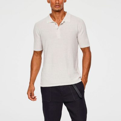 Light linen polo SARAH PACINI