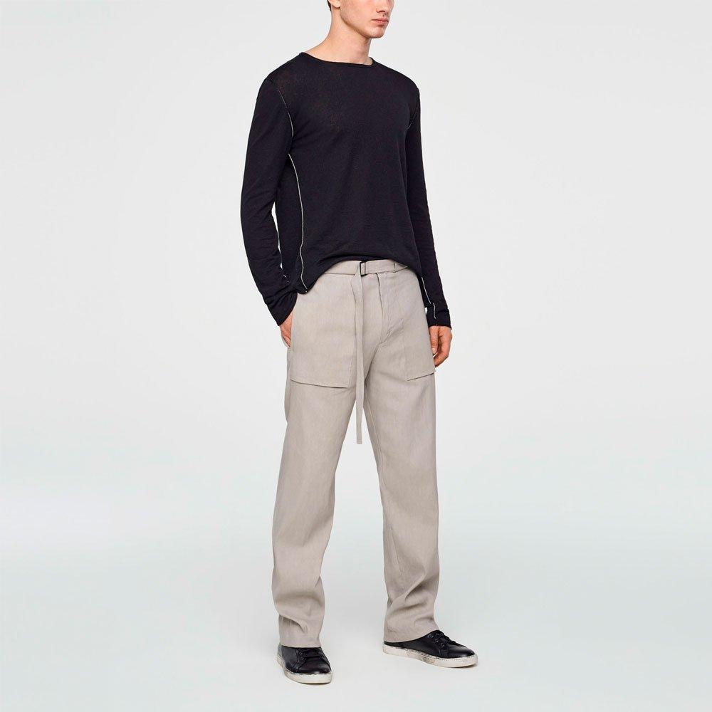 Pantalones de lino de pernera ancha SARAH PACINI
