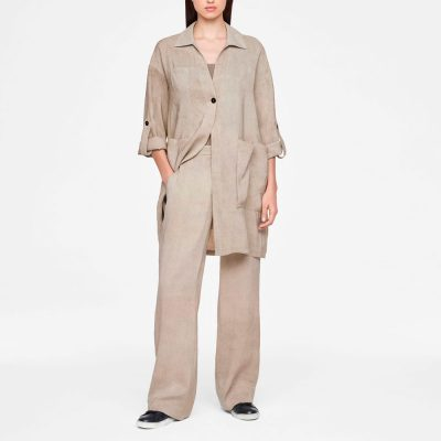 Linen jacket with patch pockets SARAH PACINI