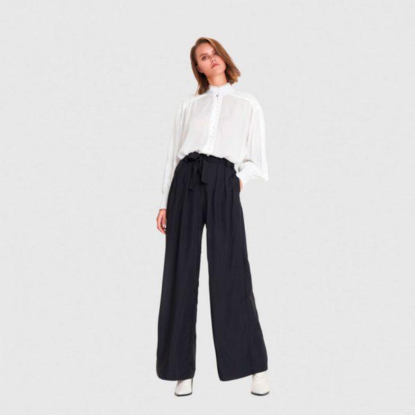 Pantalones anchos de tiro alto