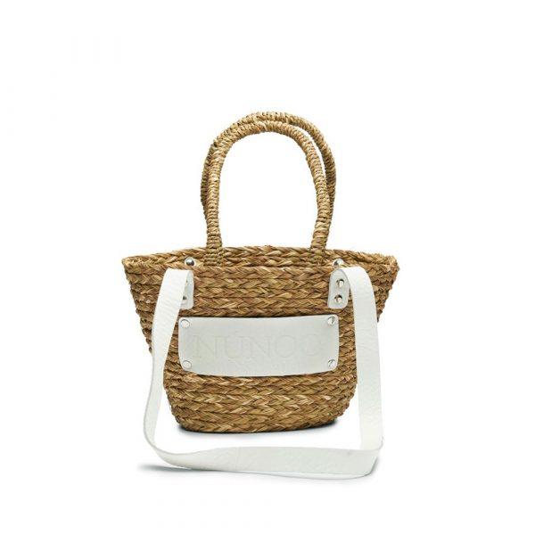 Bolso de playa pequeño blanco