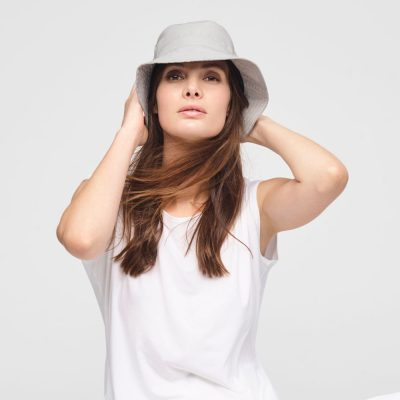 Linen bucket hat unisex SARAH PACINI