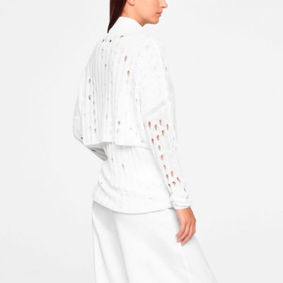 Linen cardigan openwork SARAH PACINI