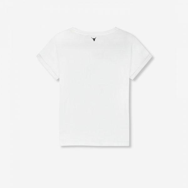 Camiseta blanca Vintage Rose
