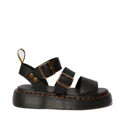 Gryphon Quad black pisa sandals