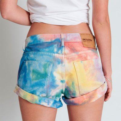 Bandits rainbow shorts ONE TEASPOON
