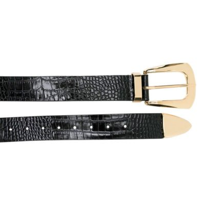 Jordana mini croco black belt