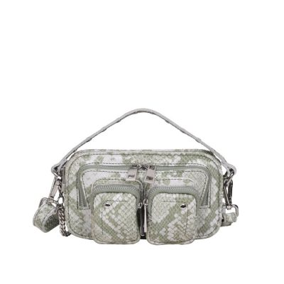 Bolso Helena snake light green