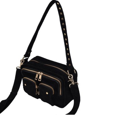 Bolso Ellie corduroy black gold