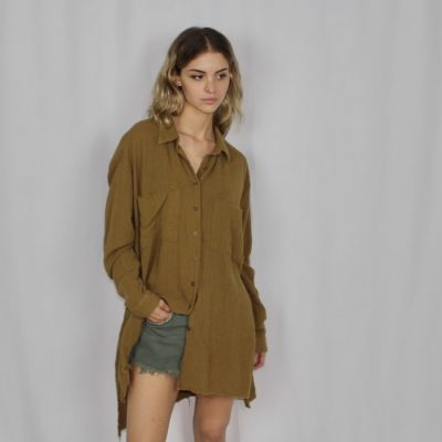 Camisa vestido Muslin Cali tobacco ONE TEASPOON