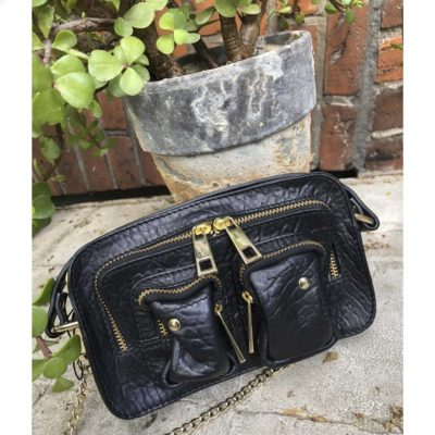 Bolso Helena New Zealand black w. gold