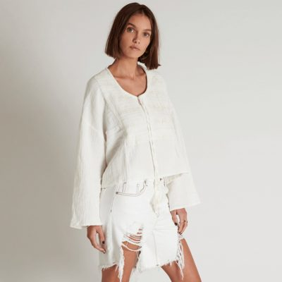 Blusa Fisherman Cloth Island natural