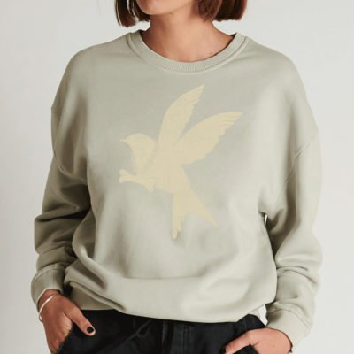 Suéter Bird Logo Sports washed grey